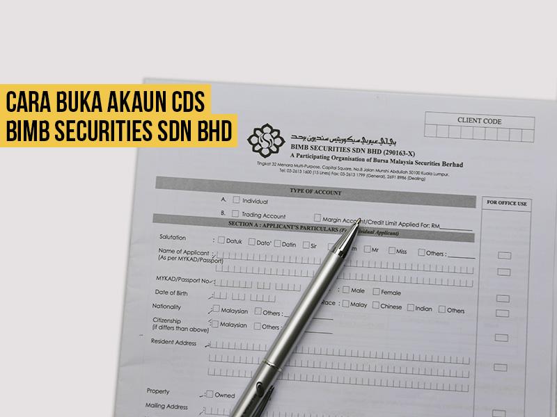 Tutorial Bergambar Cara Buka Akaun CDS BIMB Securities (Bank Islam)