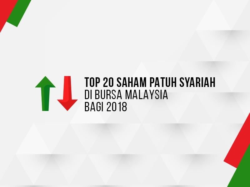 Top 20 Saham Patuh Syariah di Bursa Malaysia Bagi Tahun 2018