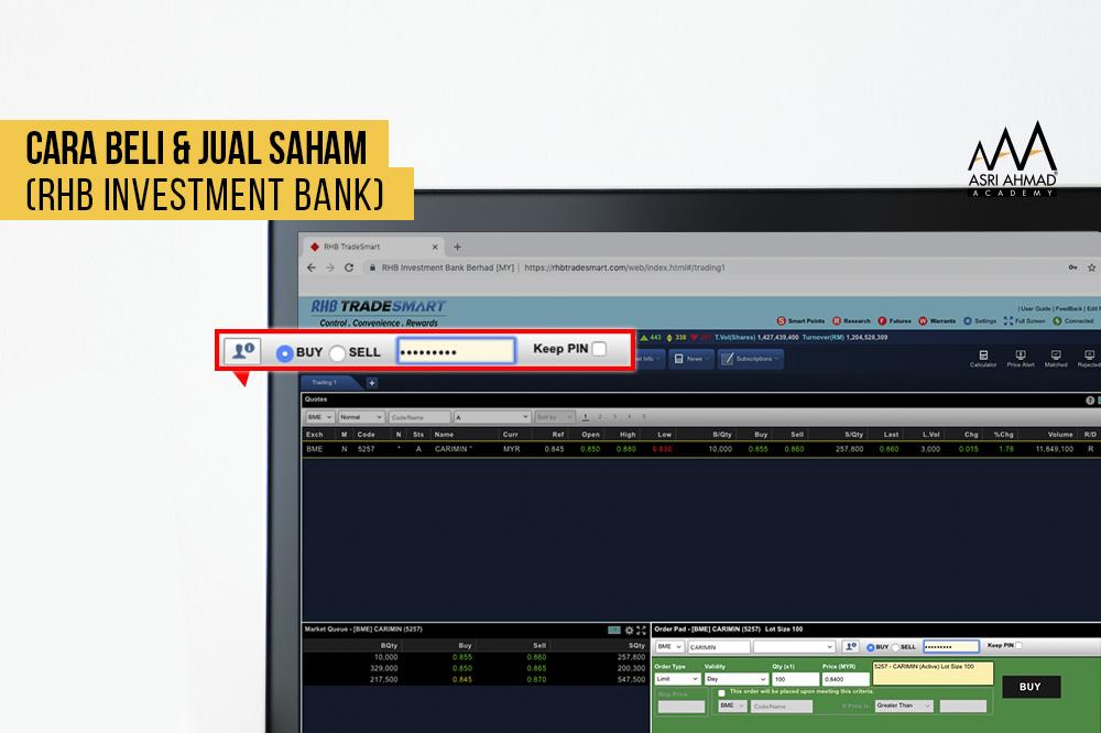 Tutorial Cara Jual Beli Saham Menggunakan Website RHB TradeSmart