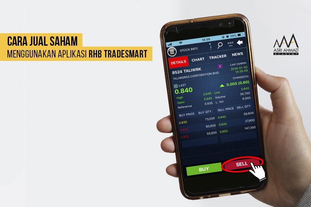 Tutorial Bergambar Cara Jual Saham Guna Aplikasi RHB TradeSmart