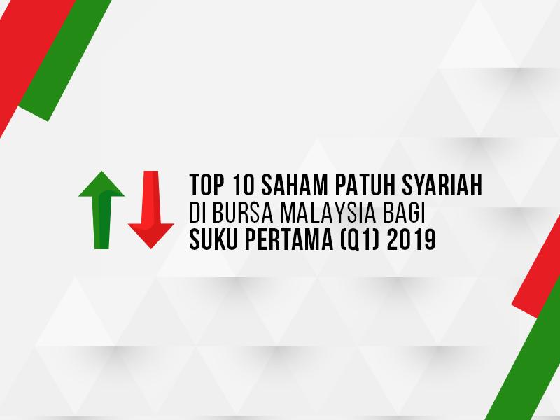 Top 10 Saham Patuh Syariah Di Bursa Malaysia Bagi Suku Pertama (Q1) 2019