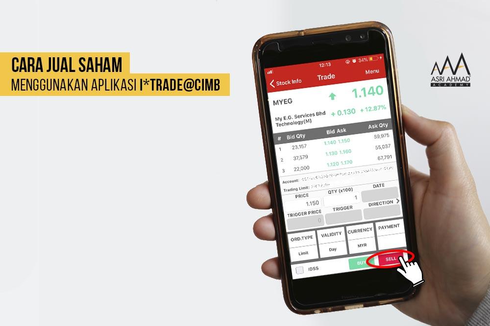 Tutorial Bergambar Cara Jual Saham Guna Aplikasi i*Trade@CIMB